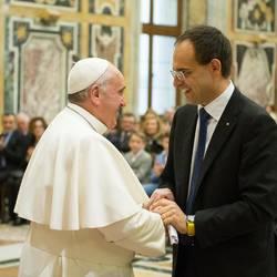 Papa Francesco e il Presidente Coldiretti Moncalvo