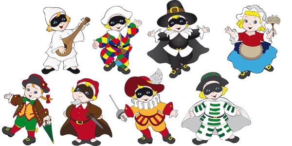 Maschere-Carnevale-Italiane-Bambini